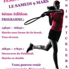 6ème édition journée du tennis féminin