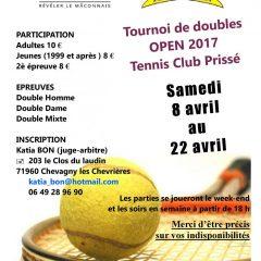 Inscription Tournoi Open Doubles